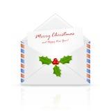 圣诞节信函邮件导航的圣诞老人 库存图片