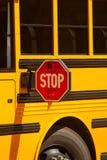 Знак стопа школьного автобуса Стоковое Изображение