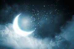 ночное небо молнии иллюстрации абстракции Стоковое фото RF