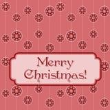 桃红色圣诞节质朴的横幅 免版税库存照片