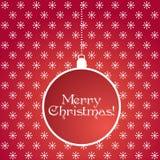 背景球看板卡圣诞节例证装饰红色向量白色 免版税库存照片
