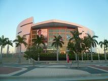 美国航空竞技场,迈阿密热浪队的家 免版税图库摄影