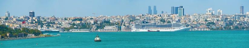 口岸在伊斯坦布尔,土耳其 库存图片