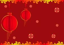 中国灯笼背景 库存照片