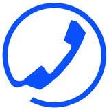连接数电话符号 库存照片