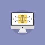 网上营业通讯平的象例证 免版税图库摄影