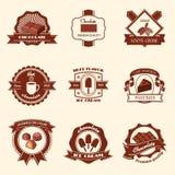 Комплект ярлыков шоколада Стоковое Фото