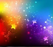 Предпосылка радуги с звездами Стоковое фото RF