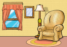 живущая софа комнаты Стоковое Фото