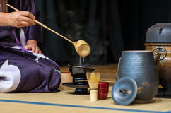 茶仪式 库存照片