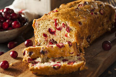 Домодельный праздничный хлеб клюквы Стоковое Фото