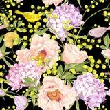 Предпосылка нежной весны флористическая безшовная Стоковое фото RF