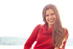 Портрет красивейшей белокурой женщины Стоковая Фотография RF