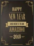 在艺术装饰样式的新年好传染媒介 免版税库存照片