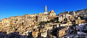 古老马泰拉,巴斯利卡塔,意大利 免版税图库摄影