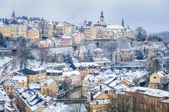 στο κέντρο της πόλης Λουξεμβούργο Στοκ Φωτογραφία
