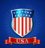 美国盾设计 库存照片