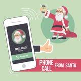圣诞节从圣诞老人的电话 库存照片