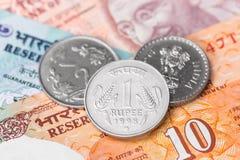 印度卢比金钱 库存图片