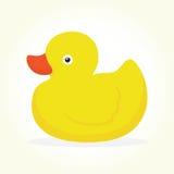 鸭子玩具被隔绝的传染媒介 图库摄影