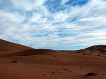 在撒哈拉风景的天际 免版税图库摄影