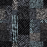 Вручите вычерченным линиям текстурам безшовную картину, ба вектора нарисованный рукой Стоковые Фото
