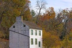 历史的船库在秋天,华盛顿特区,美国 库存图片