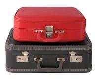 βαλίτσες δύο τρύγος Στοκ εικόνα με δικαίωμα ελεύθερης χρήσης