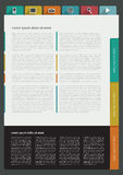 样品印刷品或网页 免版税库存图片