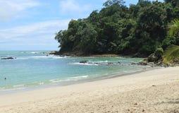 热带海滩,曼纽尔安东尼奥,哥斯达黎加 免版税库存图片