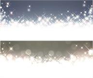 冬天满天星斗的圣诞节横幅 免版税图库摄影