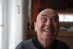 疯狂的秃头老人 库存照片