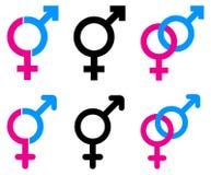 Αρσενικά και θηλυκά σύμβολα Στοκ φωτογραφίες με δικαίωμα ελεύθερης χρήσης