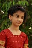 Στοχαστικό νέο ασιατικό κορίτσι Στοκ Εικόνες