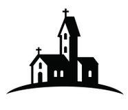 Значок церков Стоковые Фотографии RF