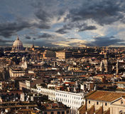 Рим, ландшафт панорамы вида с воздуха Стоковые Фотографии RF