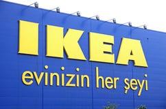 宜家商店商标在伊斯坦布尔 免版税库存图片