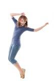 激动的亚裔女孩 免版税库存图片