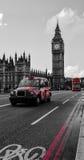 伦敦黑色出租车 免版税库存图片