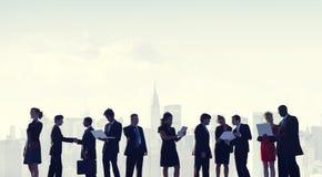 商人合作队配合专家概念 免版税库存图片