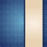 东方蓝色佩兹利横幅设计 库存图片