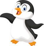 逗人喜爱的动画片企鹅 库存图片