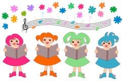 孩子唱诗班 库存照片