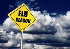 流感季节标志 免版税图库摄影