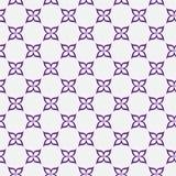紫色和白花重复样式背景 免版税库存图片