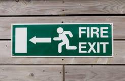 Знак пожарного выхода Стоковое Фото
