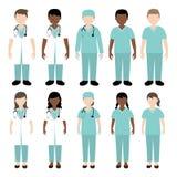医生和护士例证 免版税库存照片
