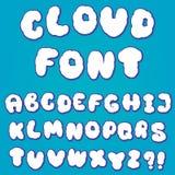 Алфавит облака для дизайна Стоковое Изображение