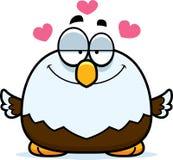在爱的小的白头鹰 免版税库存照片