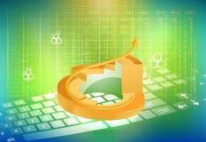 金圆形统计图表和投资者 库存图片